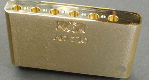 review killer guitar components brass tremolo block