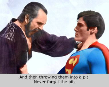 superman fighting general zod
